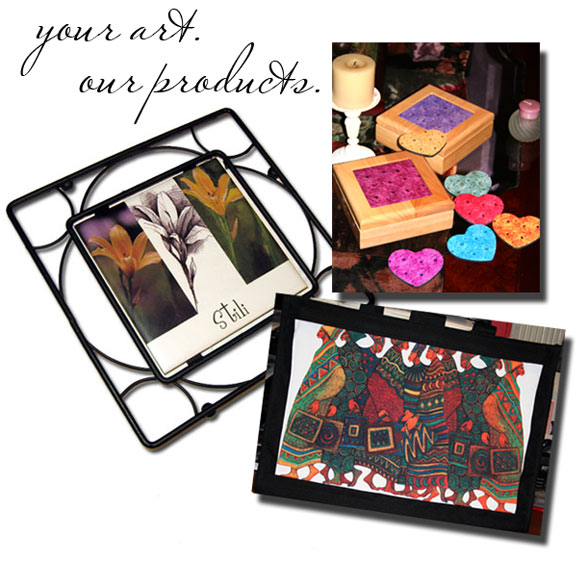 Artists: let us print your art on beautiful gift and home decor products.