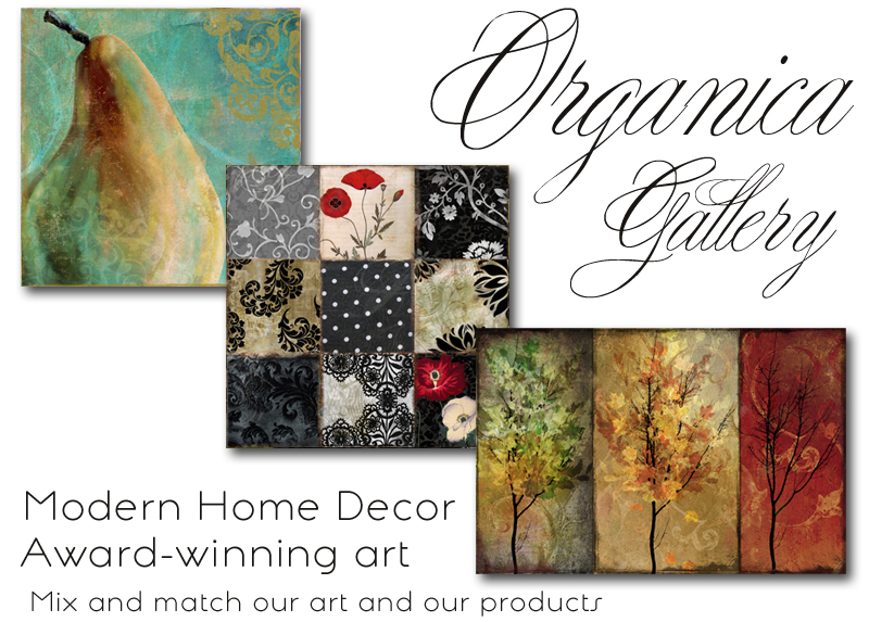 Organica Gallery, Modern Home Decor. Choose any art for any product.