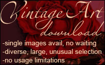 Vintage Art Download: fine art and vintage downloads without strings. Unusual and huge collection.