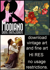 Vintage and Fine Art by the single download; hi resolution, no usage restrictions. Period.