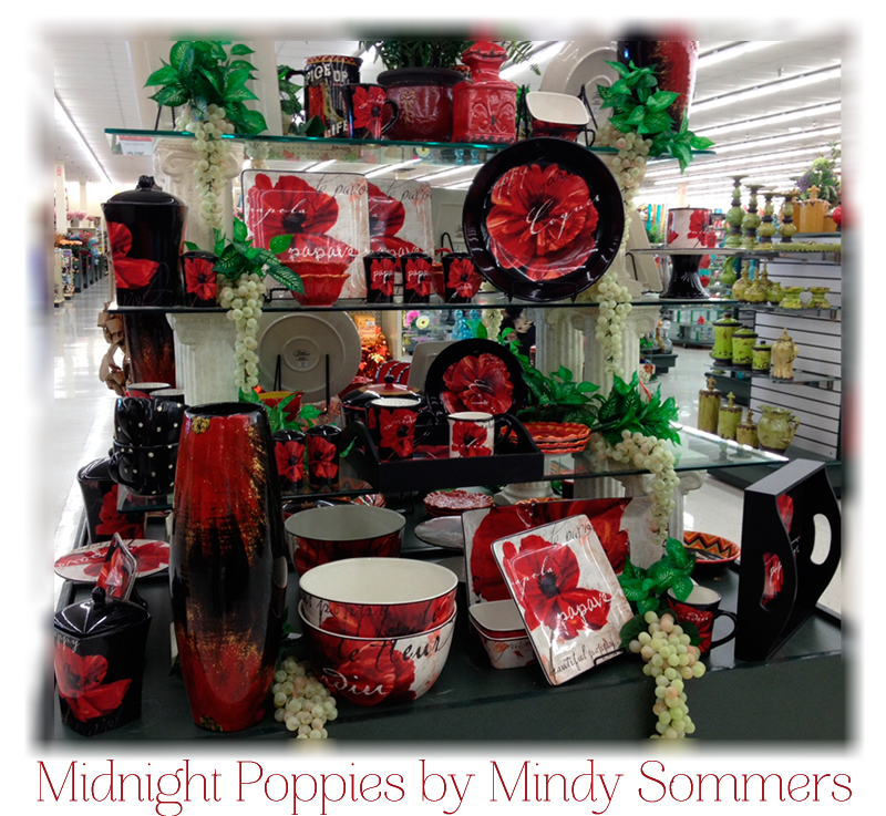 Attirant Midnight Poppies Dinnerware By Mindy Sommers; As Displayed In Hobby Lobby
